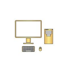 Pc computer symbol vector