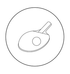 Ping-pong icon outline single sport icon from the vector