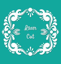 rectangular laser cut floral ornament vector image vector image