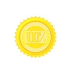 Satisfaction guarantee label icon cartoon style vector