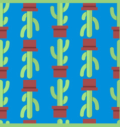 seamless pattern of cactus vector image