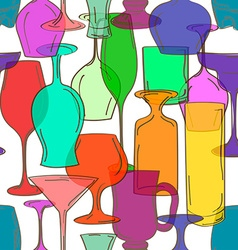 Seamless pattern of cocktail glasses vector image vector image