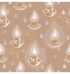Seamless pattern with hand drawn candles vector image vector image