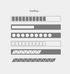 set of progres bars vector image