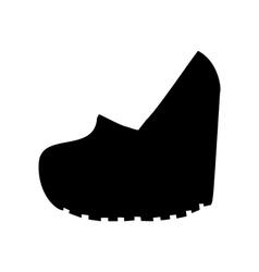 Shoes on platform vector image
