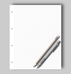 Sketch pad and pencil vector image