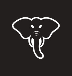 Stylish black and white icon indian elephant vector