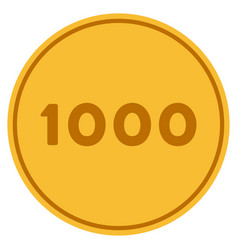 thousand gold coin vector image vector image