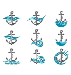 anchor symbol set vector image