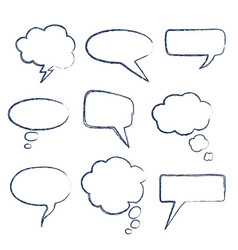 text speech bubble vector image