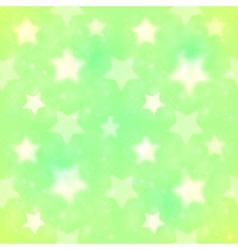 Green blurred stars seamless pattern vector image