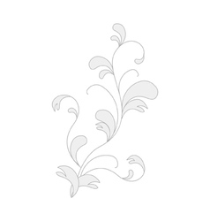 Flora element for design vector
