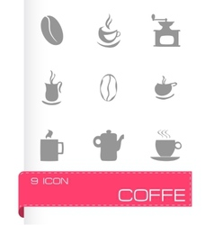 Coffe icons set vector