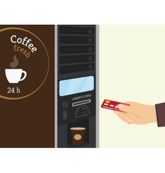 Coffee vending machine vector