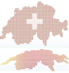 Map of switzerland swiss confederation with with vector