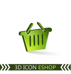 3d icon eshop vector image vector image