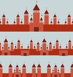 Seamless pattern with castle princess fairytale vector