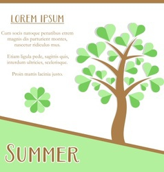 Summer season card vector
