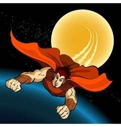 Flight of Superhero vector image