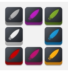 Square button surfing vector