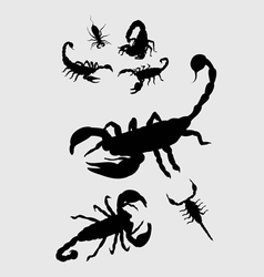 Scorpion silhouettes vector