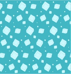 Abstract blue pattern with ice cubes vector