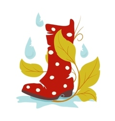 Autumn wellie vector