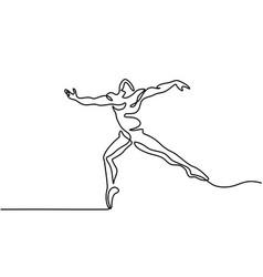 ballet dancer man vector image vector image