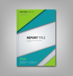 Brochures book or flyer with abstract blue green vector image vector image