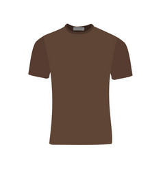 brown t-shirt vector image
