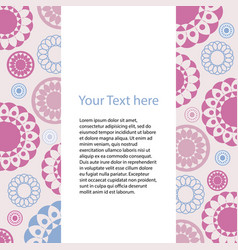 card with geometric pattern of colored circles vector image