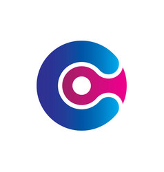 circle letter c business logo vector image