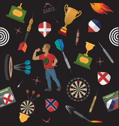 darts items and elements pattern vector image