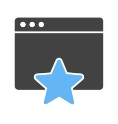 Favorite Page vector image