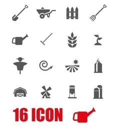 grey farming icon set vector image