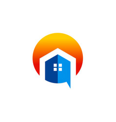 house abstract building logo vector image vector image