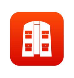 Hunter vest icon digital red vector