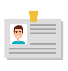 Id document card icon vector
