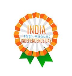 indian badge design vector image vector image