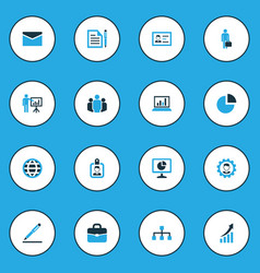 Job colorful icons set collection of analytics vector