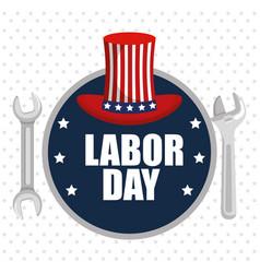 labor day poster festival national celebration vector image
