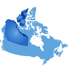 Map of canada - northwest territory vector