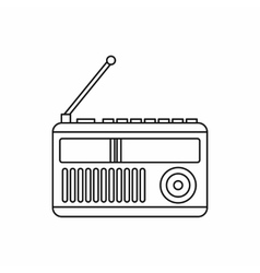 Retro radio receiver icon outline style vector