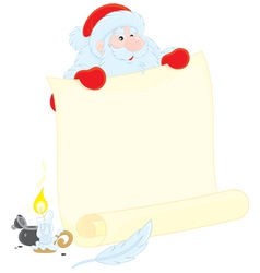 Santa Claus with ad vector image