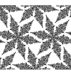 Seamless pattern with hand drawn graphic doodle vector image