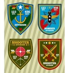 Special unit military army and navy patches vector image vector image