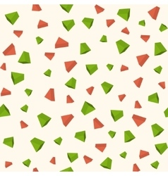 Triangle 3d objects seamless geometric pattern vector image vector image
