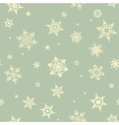 Christmas snowflake seamless pattern EPS 10 vector image