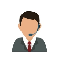 Call center consultant vector