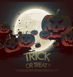 Trick or treat halloween festival background vector